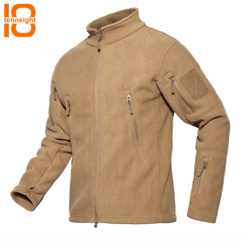 TENNEIGHT men's Hiking jacket Inner Fleece Waterproof Military Tactical jacket Breathable Outdoor skiing Camping Sports Coat men
