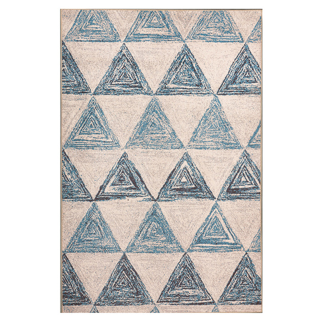 Winlife Nordic Style Geometric Pattern Carpet Elegance Area Rugs For Parlor Hall Bedroom