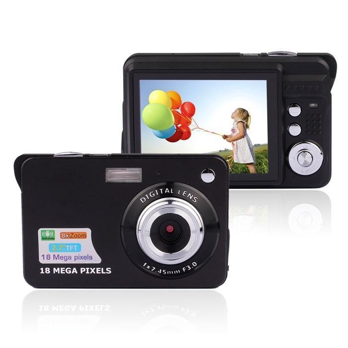 Mini Digital Camera 8x Digital Zoom Digital Photo Frame 2.7 inch 5MP COMS HD 18MP Resolution Video Recoding 3 Colors