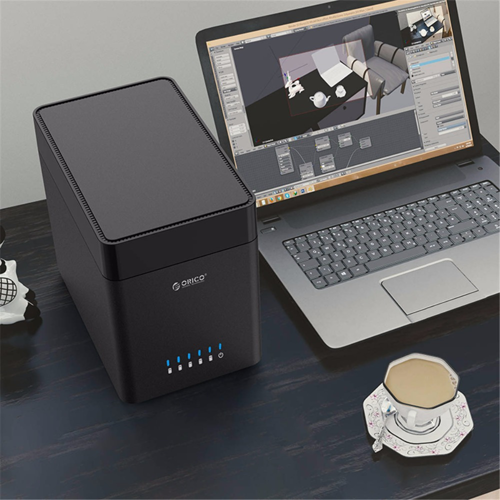 Image 2 - Orico ds série 5 baía 3.5 polegada tipo c disco rígido gabinete usb3.1 gen1 hdd magnético caso suporte uasp 50 tb hdd docking stationCaixa externa para HDD   -