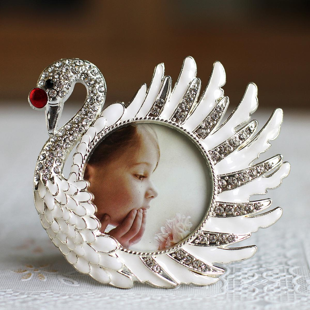 Beautiful swan photo frame baby photo frame diamond picture frame ...