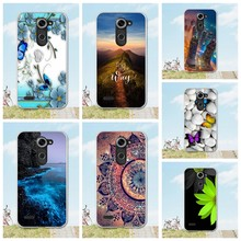 "For LG X Mach Case Cover Soft TPU Back Cases for LG X Fast K600 5.5"" Phone Bag Silicon Bag Cartoon Flower Printed Caso K600 Etui(China)"