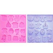M0275 Baby Clothes Silicone Molds Cake Border Fondant Molds