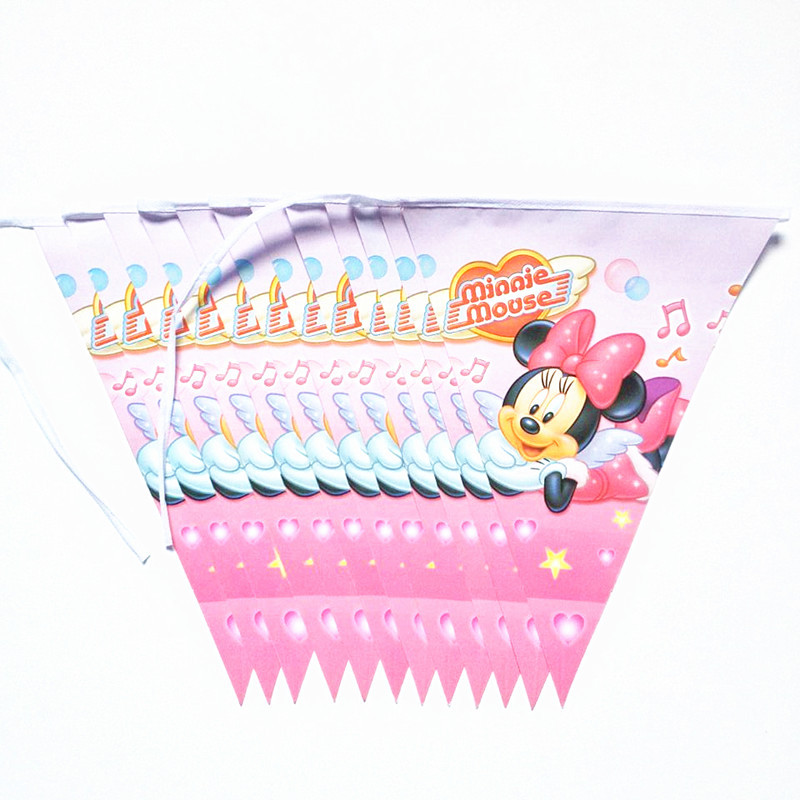 Minnie Mouse Party Supplies and Colorful Birthday Flag Pennant Bunting Banners Boys Event Party Supplies minnie mouse party
