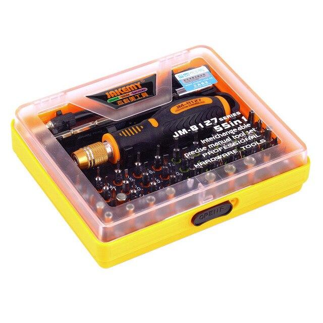 1Set 53 in 1 Multi-Bit Precision Torx Screwdriver Tweezer Cell Phone Repair Tool Hot Worldwide