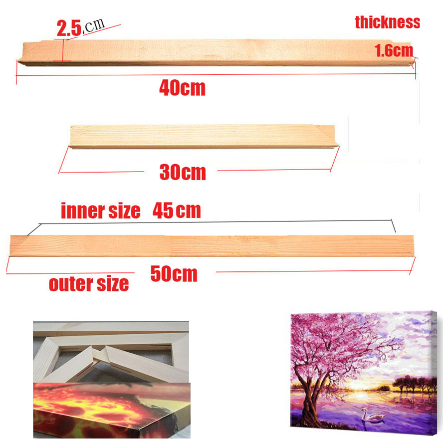 Wooden Frame For Canvas Oil Painting Nature Wood DIY ...