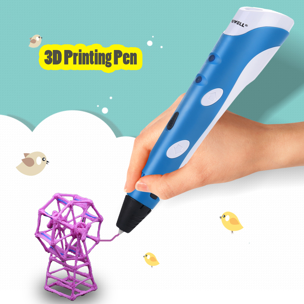 1.75mm ABS/PLA DIY Smart 3D Pen 3D Printing Pen Drawing Pen Printer With Free Filament Creative Gift For Kids Design Painting myriwell 3d printing pen1 75mm abs smart 3d drawing pen free filament adapter creative gift for kids design painting page 9