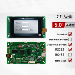 5.0 Inch Serial Screen Basic Type Capacitive Touch 800*480 TFT 1G Memory Configuration / SD / RTC/5V