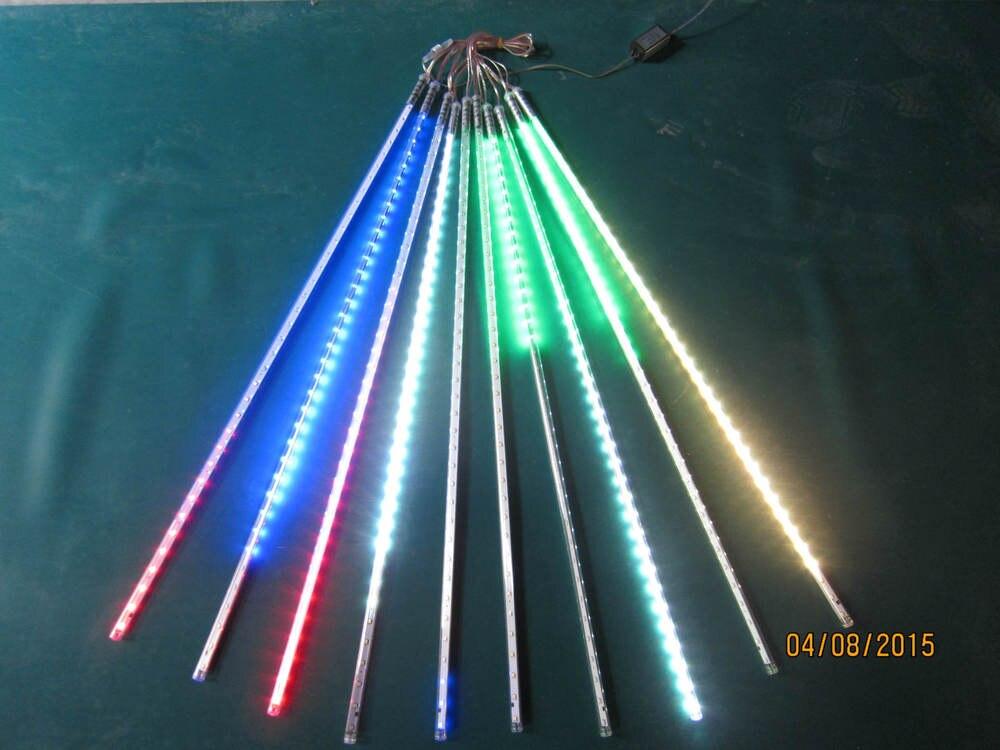 10sets/lot LED SMD2835 72leds double side LED meteor shower rain light led tube 12 * 800mm10 pieces / set ac85-265v 2016 integrated led tube light t5 900mm 3ft led lamp epistar smd 2835 11watt ac110 240v 72leds 1350lm 25pcs lot