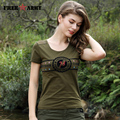 FreeArmy Green Brand T-Shirt Women Tops Short Sleeve Tees Military Slim Tee Shirt Femme Plus Size Camisetas Mujer M~3XL GS-8509A