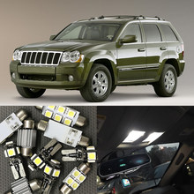 12x White Error Free Led Interior Light Kit For 2005 2010 Jeep Grand Cherokee Accessories Map Dome Trunk License Plate