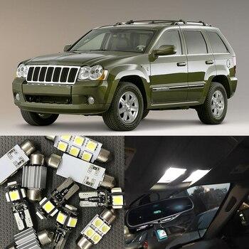 цена на 12x White Error Free LED Interior Light Kit for 2005-2010 Jeep Grand Cherokee accessories Map Dome Trunk License Plate Light