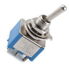 Топ-Лист AC 3A/250 В 6A/125 В 6 Pin DPDT On/On 2 Позиция Мини Тумблер Синий