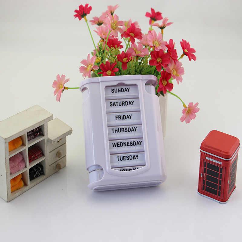 1プラスチック薬箱28携帯ポータブル引き出し防湿オーガナイザーコンテナケース7日タブレットソーターボックスコンテナ