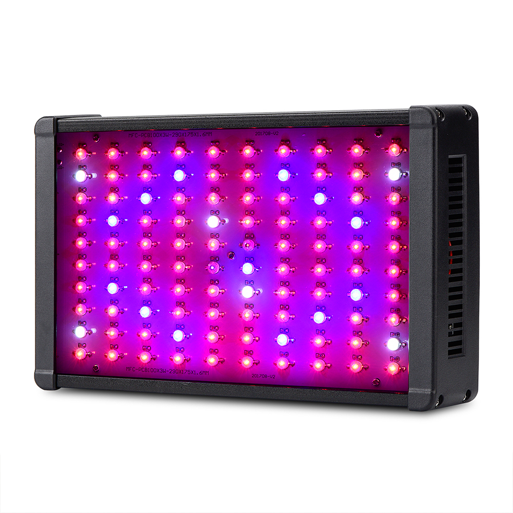 Double Chips 300W LED Grow Light Full Spectrum 380nm-760nm LED Plant Grow Light For Indoor Plants Flowering And Growing 600w led grow light full spectrum leds plant lighting lamp for plants seedings flowers growing greenhouses 100 6w double chips
