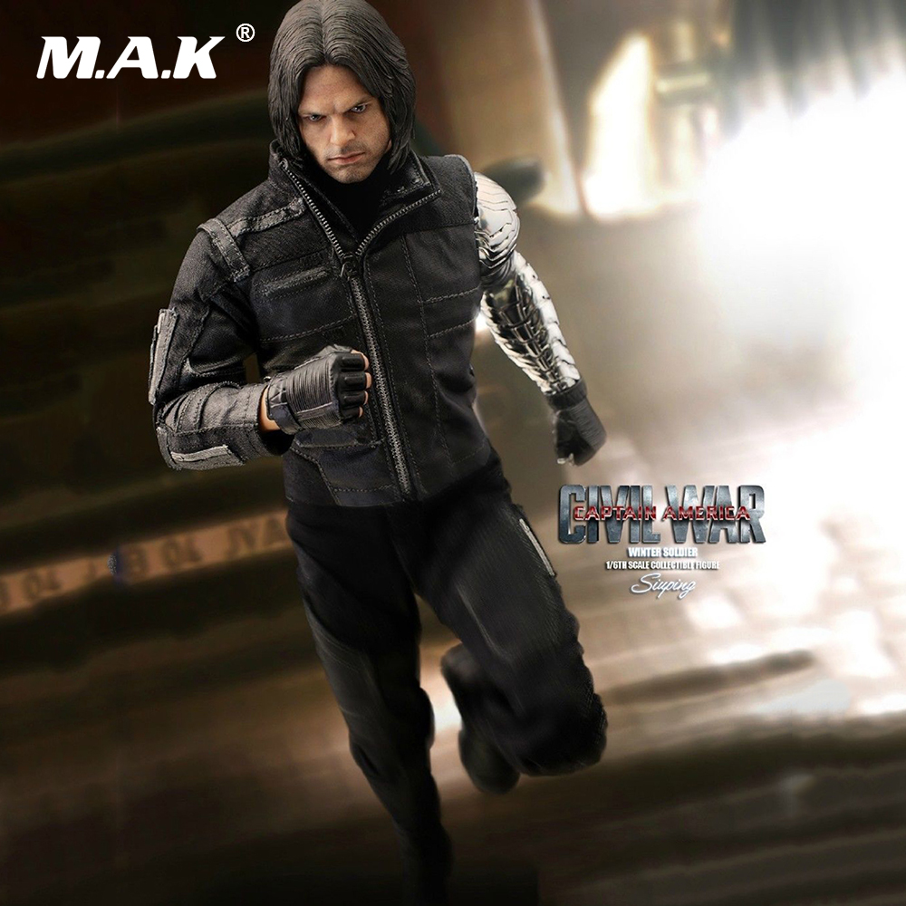 1/6 Scale Male Full Set Action Figure MMS351 Captain America Civil War Winter Soldier Action Figure Model Toys For Collection 1 6 scale full set male action figure kmf037 john wick retired killer keanu reeves figure model toys for gift collections