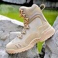 Táctica militar Botas Hombre Botas Militares botas de Combate Del Desierto Al Aire Libre Botas Los Hombres Zapatos de Cuero Genuino de Viaje Transpirable Botines