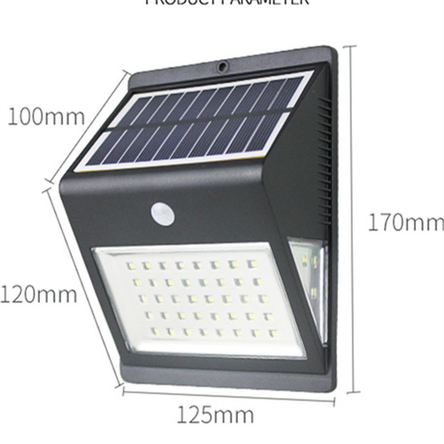 Luminaria Auto 46 Led LED Solar Panel Wall Porch Lights Waterproof Outdoor  Garden Street Lamp Home