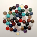 natural stone beads round cabochon for jewelry making 6 8 10 12 mm fashion good quality charm Ring accessories no hole