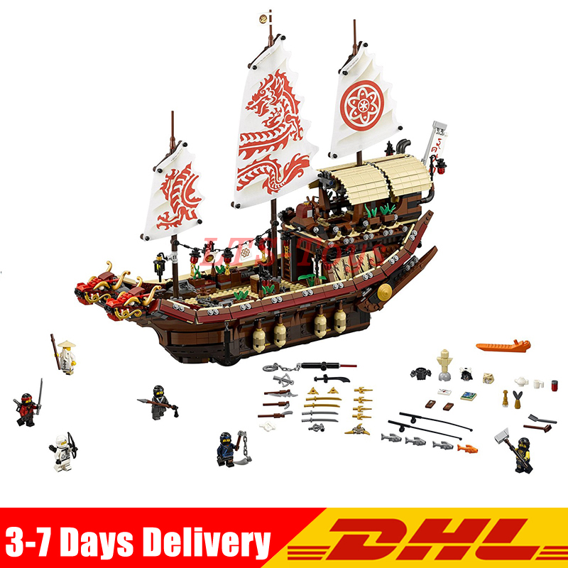 IN Stock Lepin 06057 2345Pcs New Ship Series The Destiny`s Bounty Set Building Blocks Bricks Toys Model Compatible 70618 8 in 1 military ship building blocks toys for boys