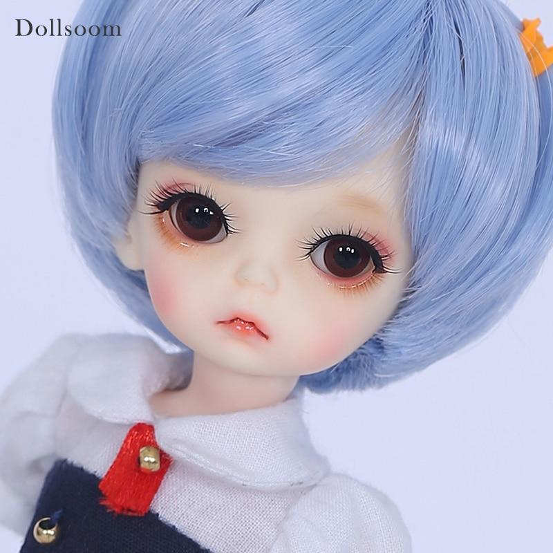 Black Bob Hair Doll Kids 12 Joints Moveable BJD Doll Body /& Head For 1:6 Dolls