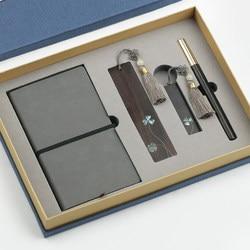 Ebony Закладка usb ручка блокнот Подарочная коробка набор используется как подарки на день рождения и небольшие сувениры Бесплатная доставка