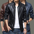 2017 Free shipping men's clothing slim male leather jacket outerwear male