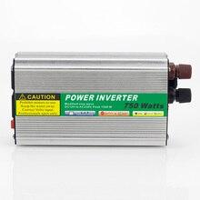 MAYLAR@ 1pcs 750W Mini Size Car Power Inverter Converter DC 12V to AC 110V or 220V Modified Sine Wave Power Solar inverters