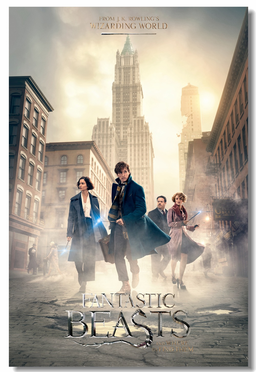 Custom Canvas Wall Decor Fantastic Beasts Poster Where To Find