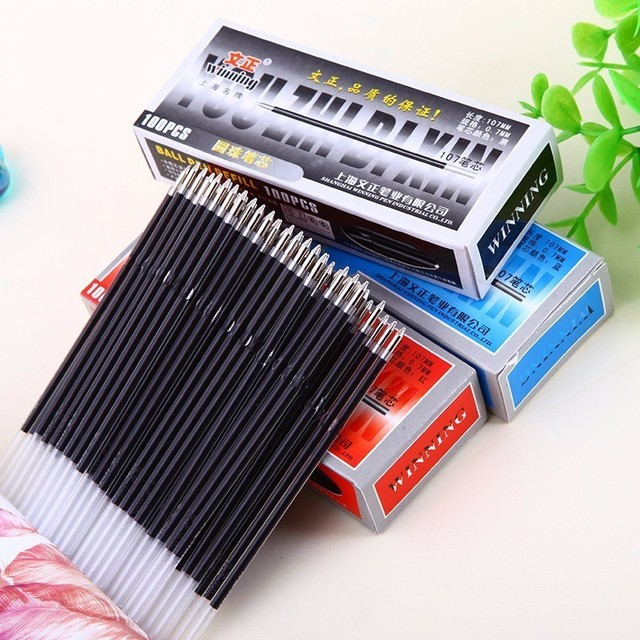 10PCS New Long 107mm Ballpoint Refills Factory Outlets Office School Stationery Ball Pen Refills