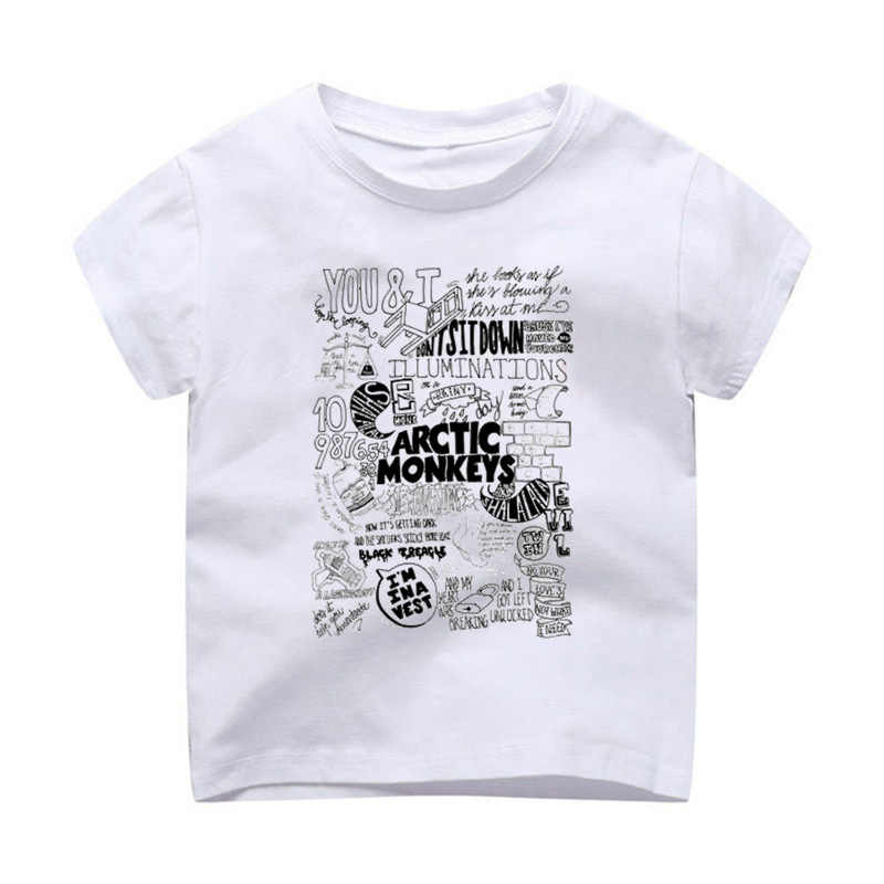 T-Shirt Children Modal Printing Kids Clothes Short Sleeves t shirt tshirt arctic monkeysrock n roll music band tees loos
