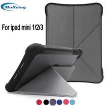 Mollsing Case Fold Stand Magnetic Flip Tablets Cowl For iPad Mini 2 case for ipad mini 1/2/three/ good Auto sleep case Cowl