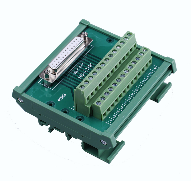 1PCS YT381 Male female optional DB25 interface Terminal board Connection module Relay terminal panel Repeaters