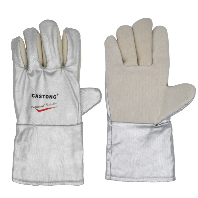 Safety Gloves Anti-scalding Fireproof Heat-resistant Aluminum Foil Heat Insulation Gloves Industrial Grade Oven Protective Glove heat resistant finger glove latest reinforced one piece trend protecting gloves goods magic funny handmade