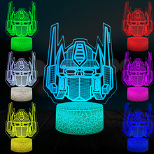 Cartoon Car 3D Lamp Robot Transformers Optimus Prime Lighting Home Decor Night Light USB LED Table Boy Holiday Christmas Gift RC