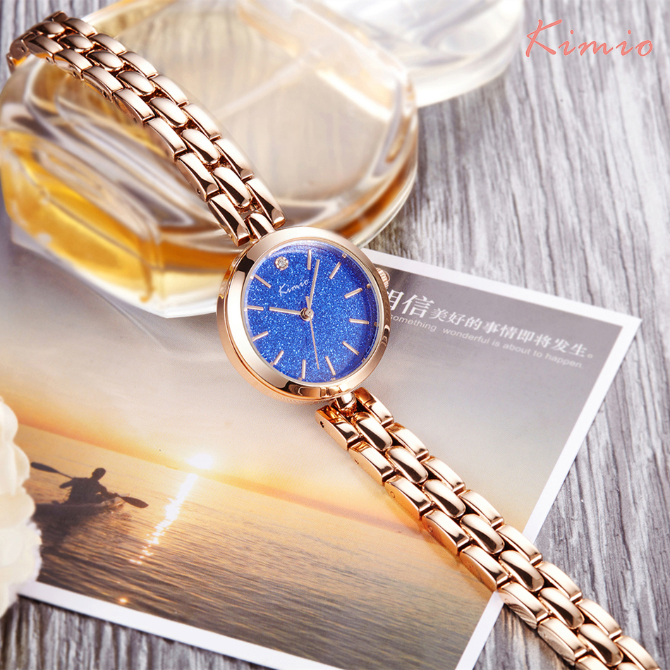 KIMIO Colorful Stars Shine Fashion Watches 2018 Women Watch Bracelet Wristwatch Rose Gold Quartz Womens Watches Top Brand Clock kimio brand diamond rhinestone rose gold bracelet women watches fashion woman watch luxury quartz watch ladies wristwatch clock