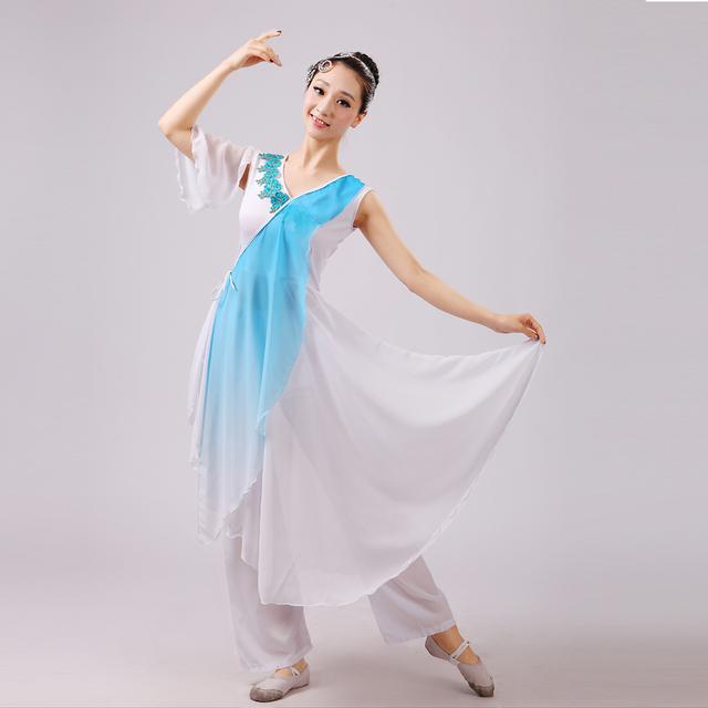 Trajes Dança Popular Chinesa de Dança Oriental Mulheres Traje Chinês Antigo Senhoras Elegantes Trajes de Dança Tradicional Chinesa