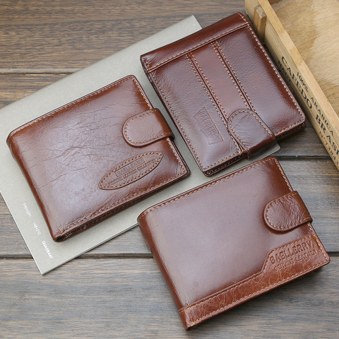 Famous Luxury Brand Men Wallet Genuine Leather Card Holder Wallet Male Coin Pocket Short Clutch Wallets Leather Bifold Men Purse Pakistan
