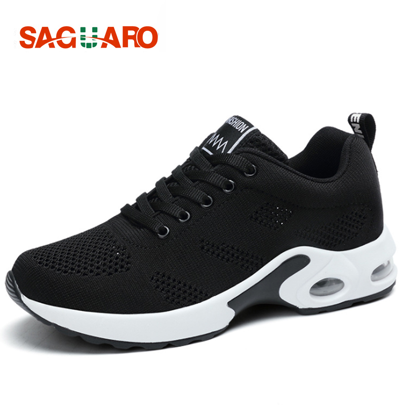 SAGUARO Running Shoes for Women 2018 Outdoor Mesh Super Light Shoes Jogging Sneakers Athletics Woman Sport Shoes zapatillas new running shoes for men 2017 outdoor breathable mesh light flat shoes comfortable sneakers athletics women lovers sport shoes
