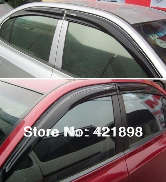 Para Hyundai tucson IX35 2010 2011 2012 2013 2014 2015 viseira janela de Ventilação/Defletor Guarda Chuva 4 pcs