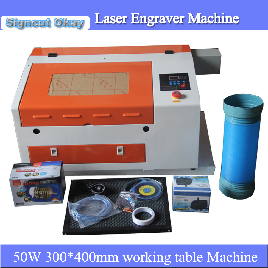 Lowest Price! 50W Portable Mini Laser Engraving Cutter Machine Laser Engraver 3040 For Wood Acrylic Leather Caving Home Use