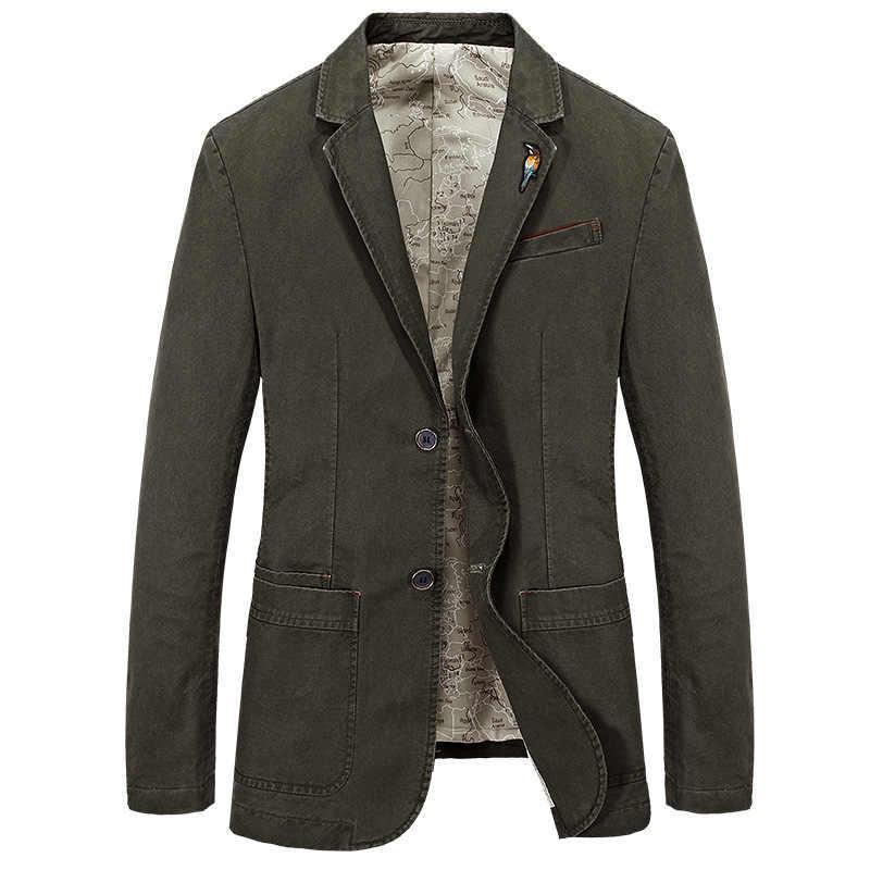 Nuevo Mens chaqueta Blazer chaquetas de hombre de algodón de moda Casual traje chaqueta hombres chaqueta Blazer marca Slim grasa Vintage prendas de vestir ropa de BF66002A