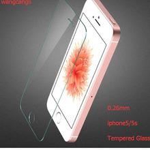 Wangcangli 50pcs 2.5D Premium Tempered Glass for iPhone 5 5s Screen Protector 5c Explosion-proof