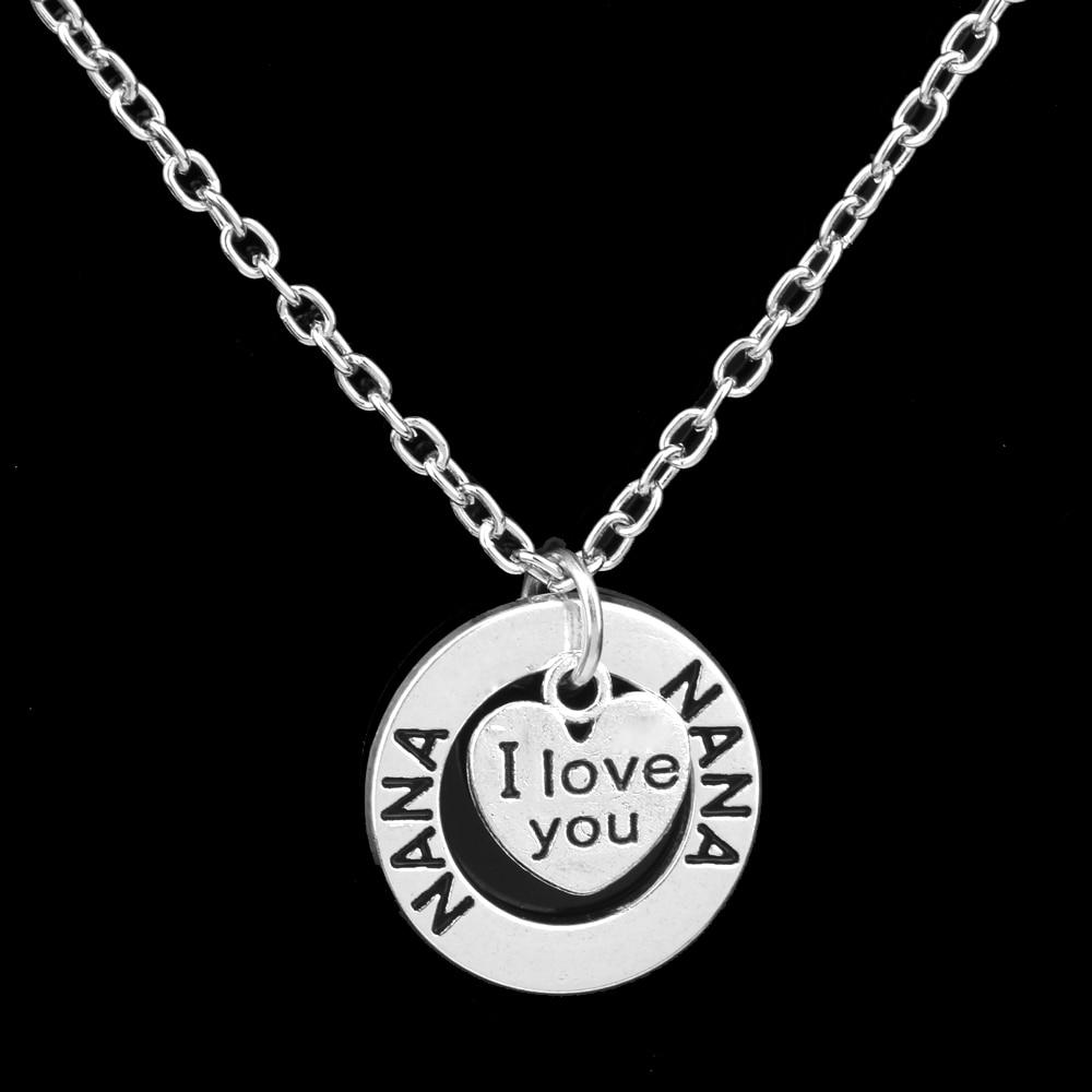 Mother/'s Day I Love You Maman gravé Coeur Collier Pendentif Bijoux Cadeau Charme #