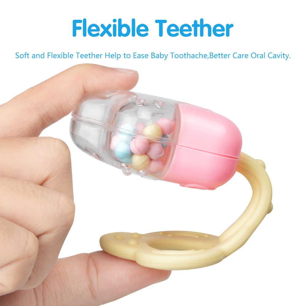 Детские погремушки-грызунки, 8 штук, музыкальный ручной колокольчик для младенцев, пластмассовые развивающие погремушки в виде зверей, подарок для новорожденных в возрасте от 0 до 12 месяцев