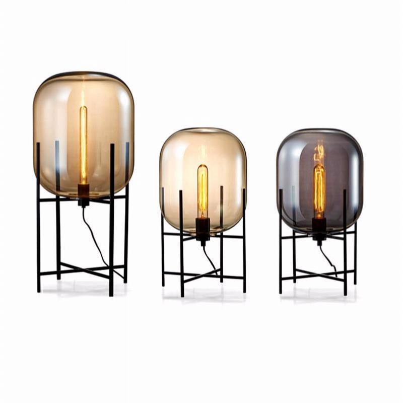 Modern Glass Table Lamp Creative Glass Decoration Desk lamp bedroom glass Fixtures bedside LED lights Lampara decorativa