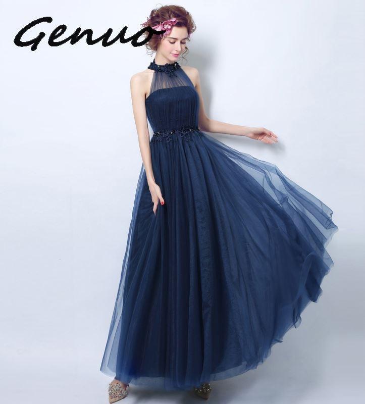 Genuo ใหม่ 2019 High   end gas field queen จัดเลี้ยง elegant และ elegant ชุด 2019 ใหม่แฟชั่นสุภาพสตรี slim dress 3207-ใน ชุดเดรส จาก เสื้อผ้าสตรี บน   3