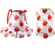 Pet Couples Dress Puppy Dog Princess Lovely Strawberry/ Pineapple Dresses For Small Medium Large Dogs