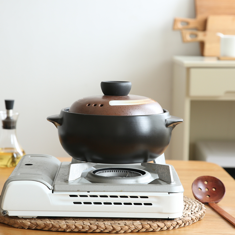 Casserole de Style japonais rétro sous émail Casserole de poterie résistant à la chaleur