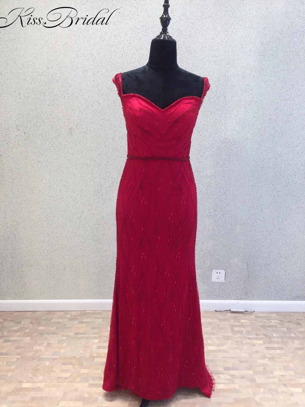 2018 atemberaubende schöne lange abendkleider für frauen herzförmiger  ausschnitt gerade rotes abschlussball-kleider party tragen